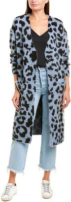 Ragdoll LA Fuzzy Leopard Mohair & Wool-Blend Cardigan