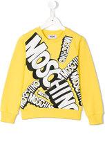 Moschino Kids logo print sweatshirt