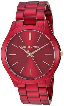 Michael Kors Women's Slim Runway Quartz Watch with Stainless-Steel-Plated Strap