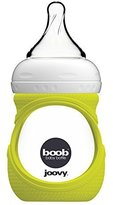 Joovy Boob Glass Bottle & Sleeve, Green, 5 Ounce by