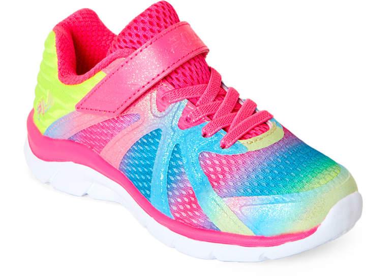 38c7b77b Toddler/Kids Girls) Pink & Multicolor Fraction 3 Running Sneakers