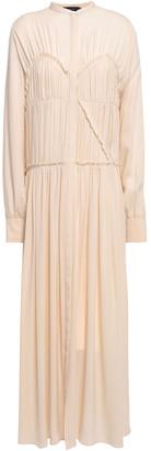 Joseph Jamie Pleated Silk Crepe De Chine Maxi Dress
