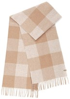 Mackage Langevin Unisex Chequer Patterned Scarf In Camel