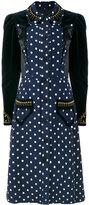 Maison Margiela velvet-panelled polka-dot dress