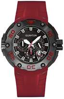 Quantum Hunter Men's Quartz Watch with Chronograph Quartz Silicone hng470.658