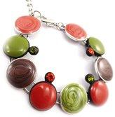 Noa Bracelet creator 'Coloriage' green.