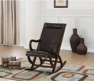 Red Barrel Studio Bayman Rocking Chair Fabric: Black