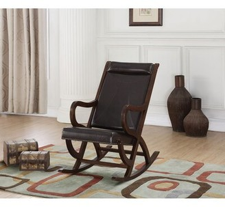Alcott Hill Lakeville Rocking Chair Fabric: Brown