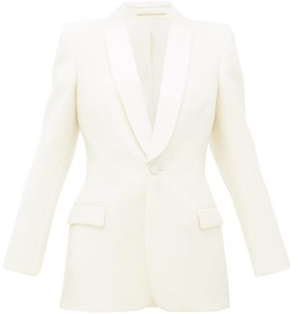 Wardrobe NYC Release 05 Single-breasted Wool Suit Jacket - White