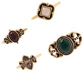 Forever 21 FOREVER 21+ Faux Gem Midi Ring Set