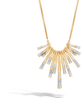 John Hardy Women's Bamboo Bib Necklace in 18K Gold with Diamonds