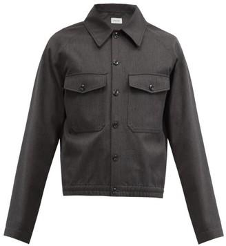 Lemaire Point-collar Elasticated-hem Shirt Jacket - Dark Grey