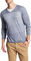 Autumn Cashmere Striped V-Neck Shirt