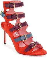YDN Women Heeled Sandals Buckle Straps Shoes Gladiator Stilettos Summer Booties
