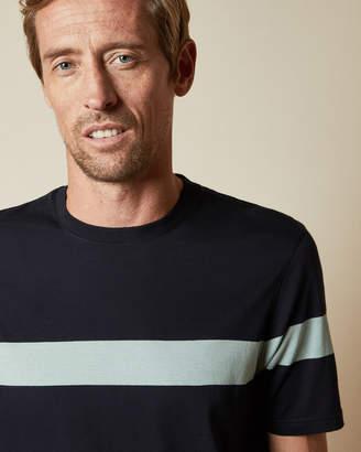 Ted Baker RELAXTT Tall cotton central striped T-shirt