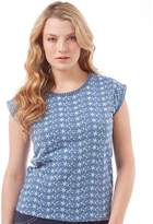 Board Angels Womens Embroidered Sleeveless Top Indigo