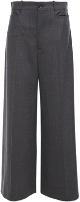 Joseph Dana Stretch-wool Flannel Wide-leg Pants