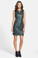 Donna Morgan D2649M Textured Faux Leather Sheath Dress