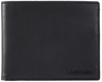 Calvin Klein Smooth Leather Bifold (Black) Bi-fold Wallet