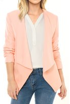 Allegra K Women Turn Down Collar Long Sleeves Front Opening Blazer