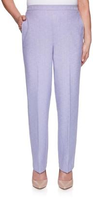 Alfred Dunner Women's Pull-On Short-Length Pants
