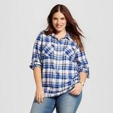 Merona Women's Plus Size Plaid Flannel Popover Favorite Shirt