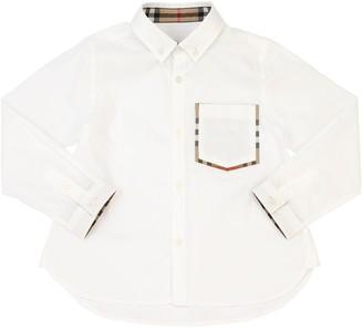 Burberry Cotton Oxford Shirt W/ Pocket