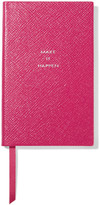 Smythson Panama Make It Happen Textured-leather Notebook - Fuchsia