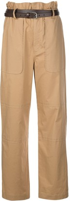 Sea High-Waist Belted Trousers