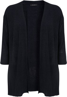 Evans Navy Blue Knitted Cardigan