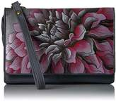 Anuschka Hand Painted Organizer Wallet with Smart Phone Case Dreamy Dahlias Pink Wallet