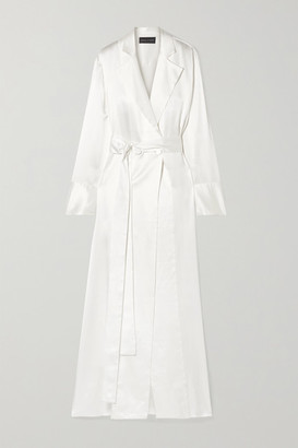 Michael Lo Sordo Double-breasted Silk-satin Gown - Ivory