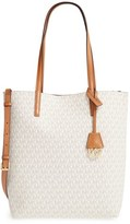 MICHAEL Michael Kors 'Large Hayley' Faux Leather Tote - Ivory
