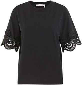 See by Chloe Lace detail t-shirt