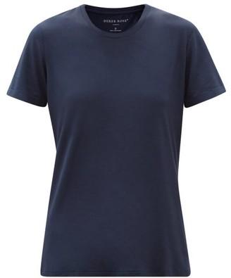 Derek Rose Lara Crew-neck Stretch-micromodal Pyjama T-shirt - Navy
