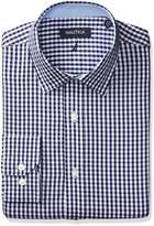 Nautica Men's Twill Check Spred Collar Dress Shirt