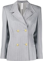 Versace Pre Owned 1980's pinstriped blazer