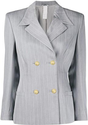 Versace Pre-Owned 1980's Pinstriped Blazer