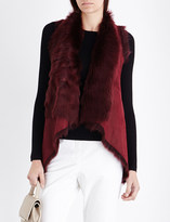 Karl Donoghue Waterfall reversible shearling gilet
