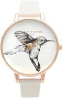 Olivia Burton Women's Animal Motif Leather Strap Watch, 38Mm