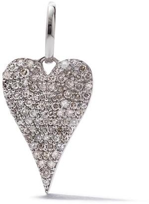 As 29 18kt white gold pave diamond Heart pendant