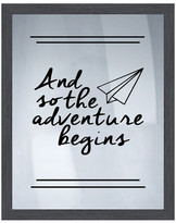 PTM Images And So the Adventure Begins Silk Screen Wood Framed Wall Art