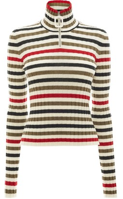 J.W.Anderson Striped High-Neck Pullover