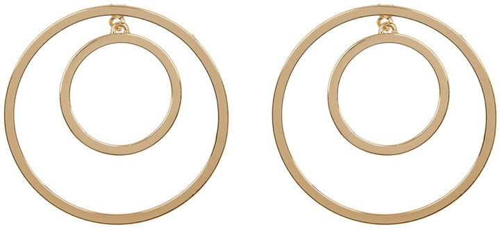 Steve Madden Double Circle Earrings