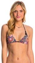 Hurley Swimwear Turkish Floral Reversible Lined Triangle Bra Bikini Top 8145080