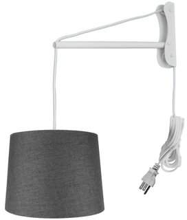 "St Nicholas Symple Stuff Mast Swing Arm Lamp Symple Stuff Shade Color: Granite Gray, Size: 14"" H x 14"" W x 10"" D"