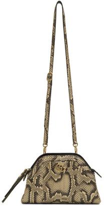 Gucci Beige Python Rebelle Shoulder Bag