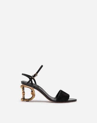 Dolce & Gabbana Lurex Sandals With Sculpted Heel