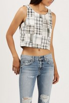 Azalea Checkered Sleeveless Top
