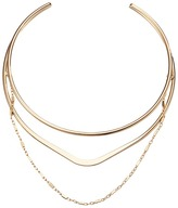 GUESS Metal Layer Choker with Chain Drape Necklace Necklace